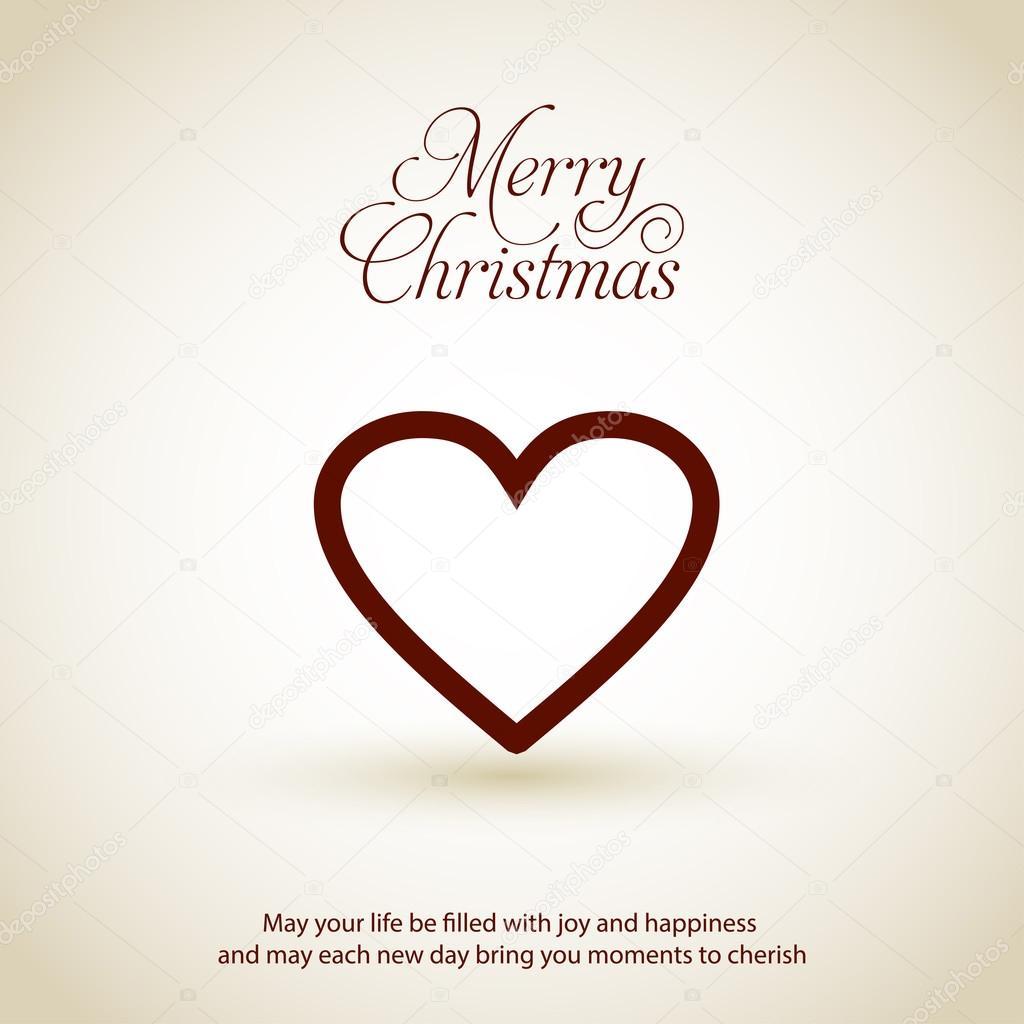 Frohe Weihnachten Herz.Frohe Weihnachten Karte Mit Herz Stockvektor Ibrandify 92782758