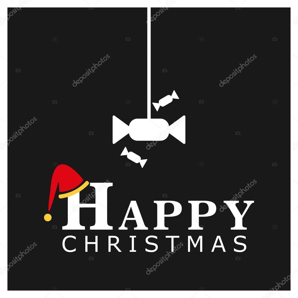 Plantilla de tarjeta de Navidad con caramelos — Archivo Imágenes ...