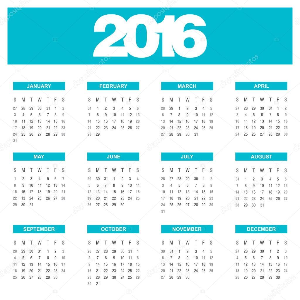 2009 évi naptár nyomtatható 2016 évi naptár sablon — Stock Vektor © ibrandify #92784844 2009 évi naptár nyomtatható