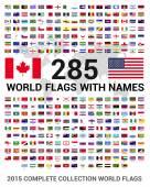 sada 285 svět vlajek států světa
