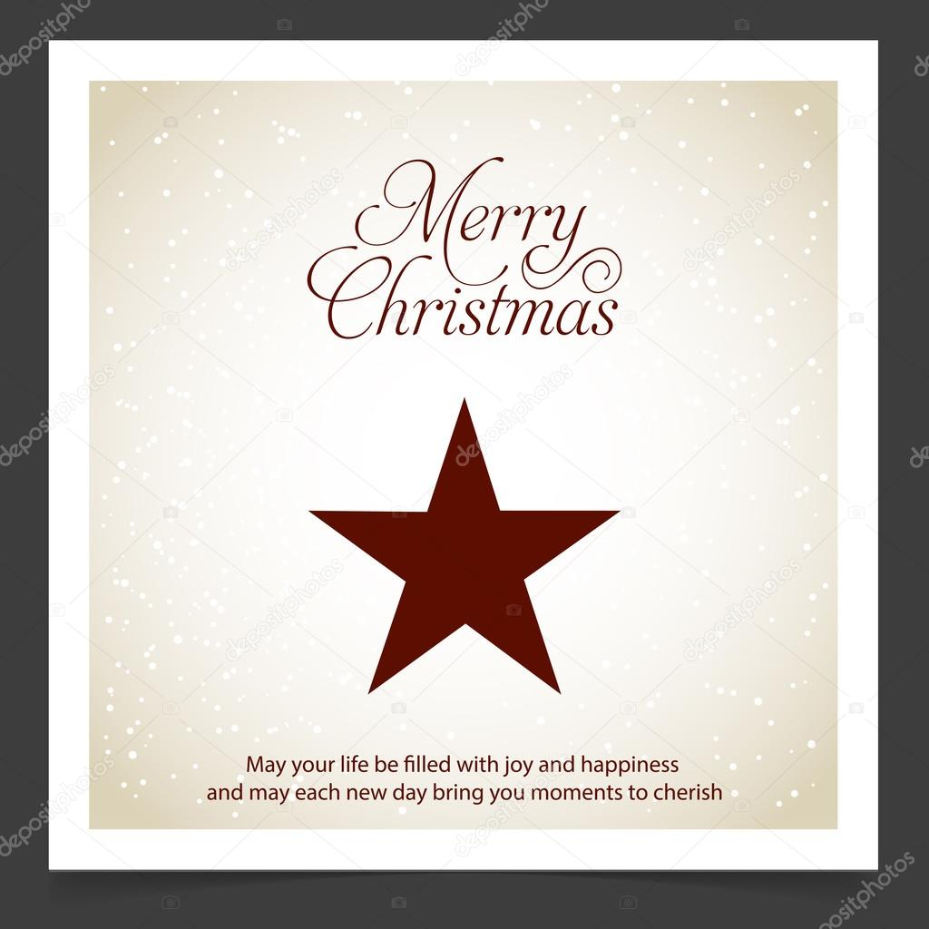 Gruß Weihnachtskarte mit Stern — Stockvektor © ibrandify #92792584