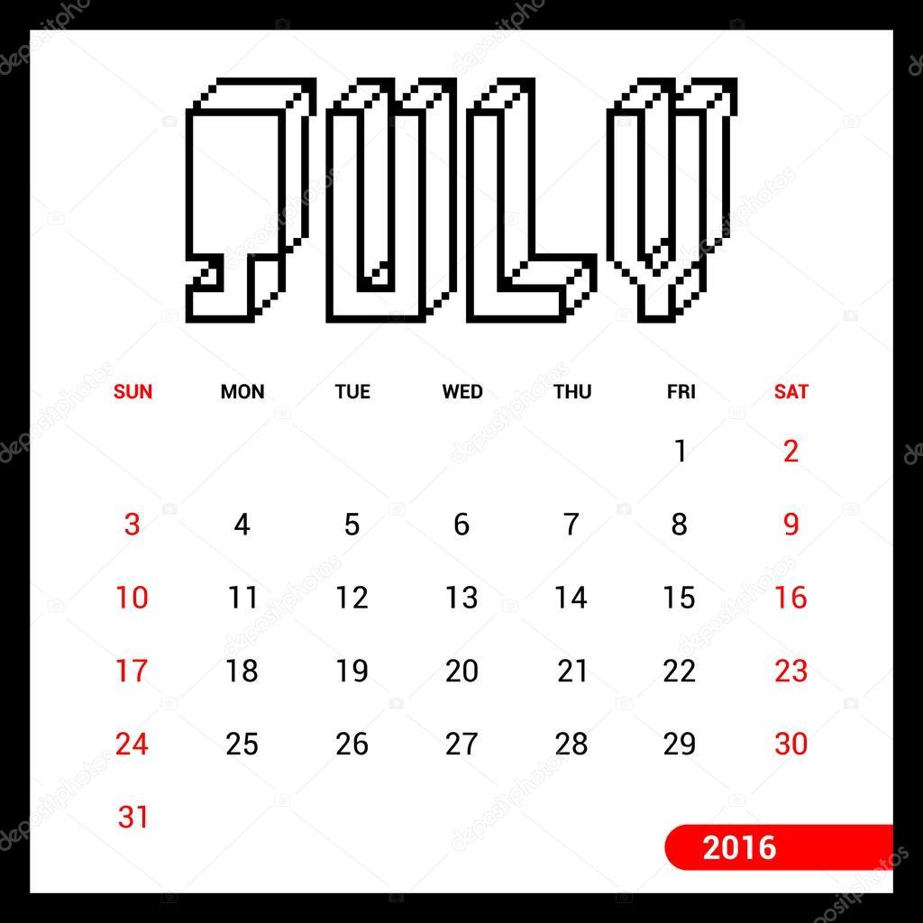 depositphotos_92793030 stock illustration july calendar 2016 template twitter banner,twitter free download card designs on twitter banner orignal template