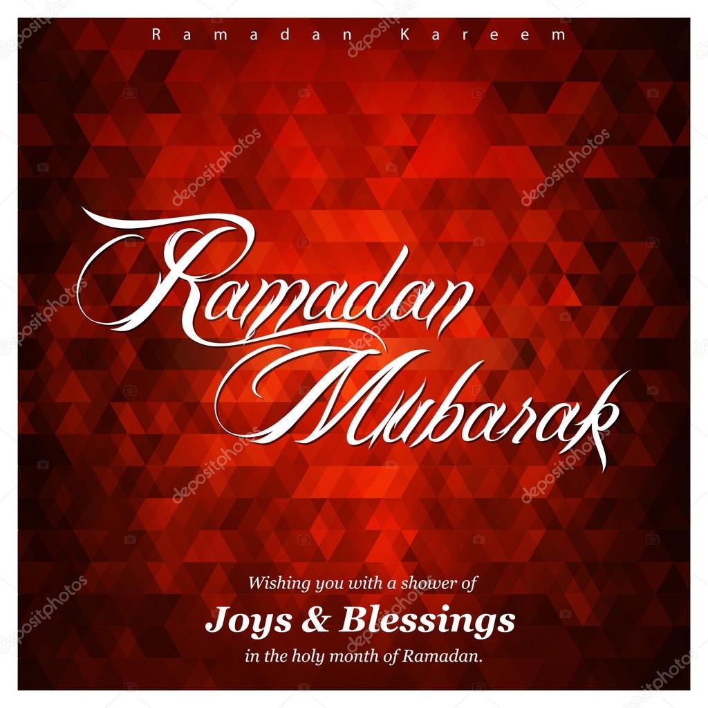 Ramadan Mubarak Greeting Card Stock Vector Ibrandify 93228794