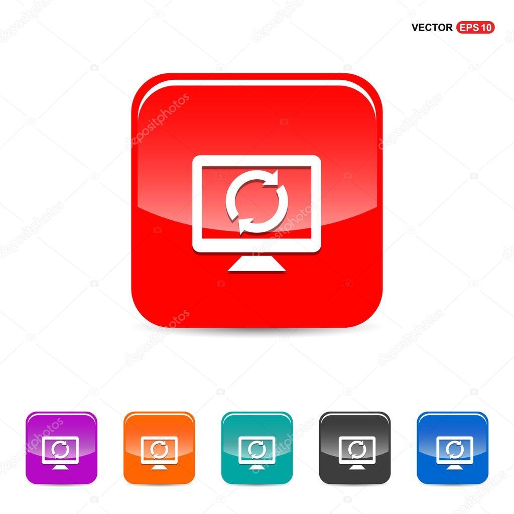 Desktop and refresh icon — Stock Vector © ibrandify #93237196