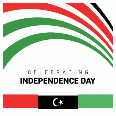 Celebrating Independence Day Libya Card