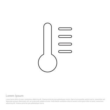measuring temperature icon