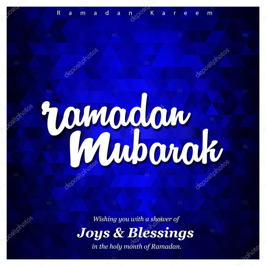Ramadan Mubarak Greeting Card Stock Vector Ibrandify 93240064