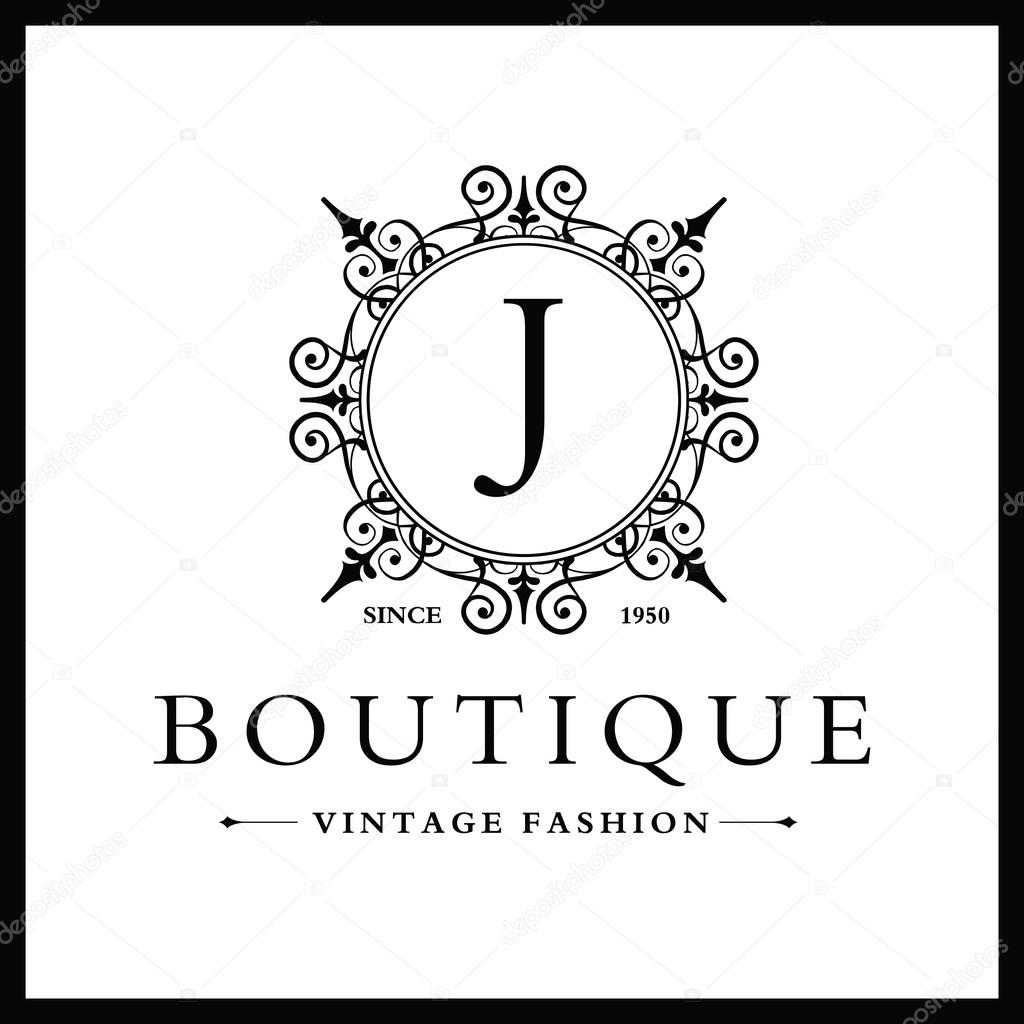 Boutique Logo Design With Letter J Stock Vector