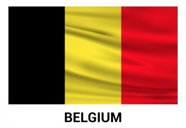 Belgium flag in official colors