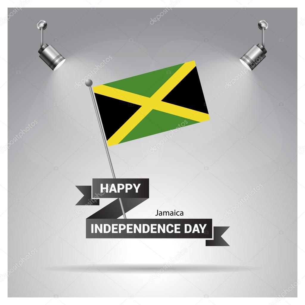 Jamaica Independence Day Poster Stock Vector Ibrandify - Jamaica independence day