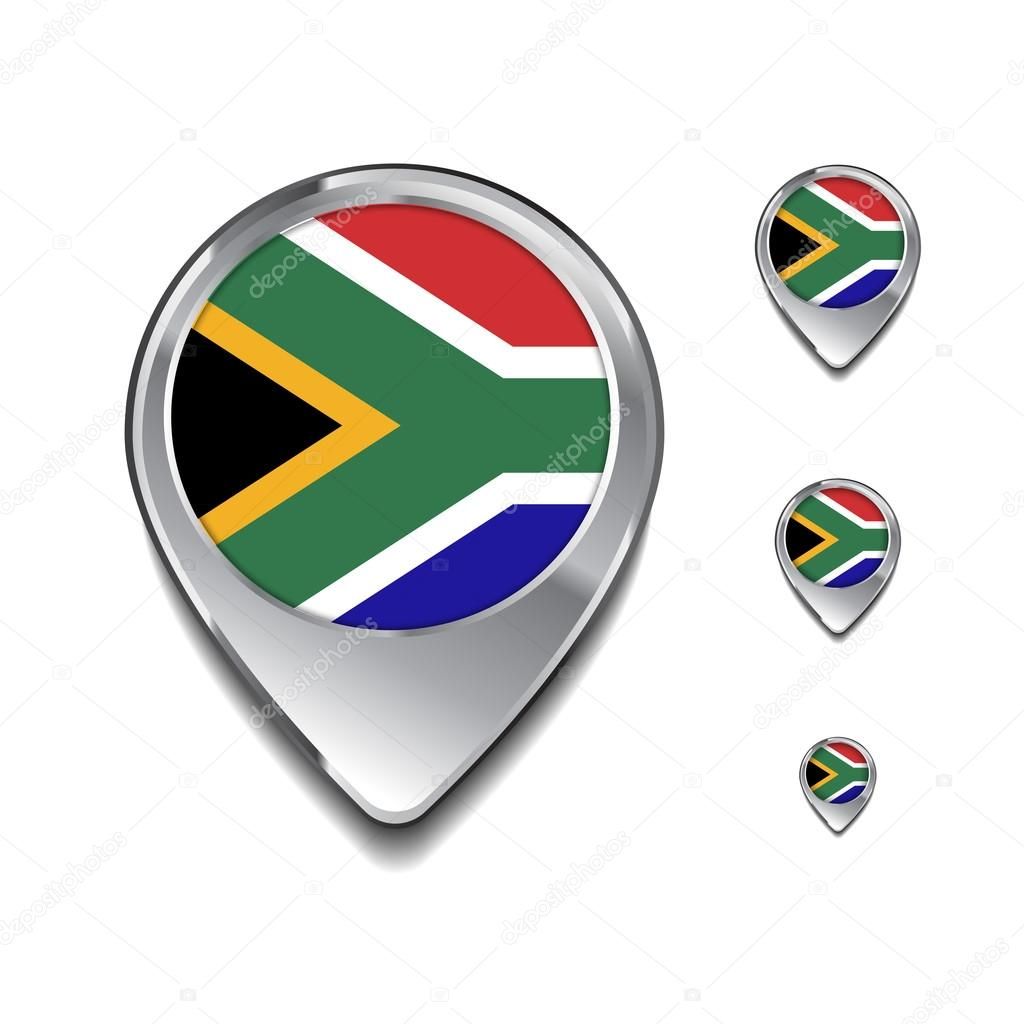 Flag Map Of Africa.South Africa Flag Map Pins Stock Vector C Ibrandify 93714958