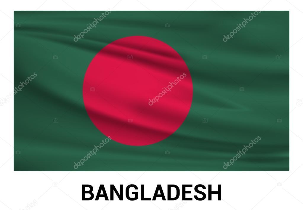 公式色でバングラデシュの国旗 —...