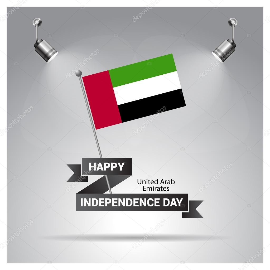 Uae Independence Day Poster Stock Vector Ibrandify 93717196