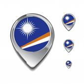 Marshallovy ostrovy vlajky špendlíky