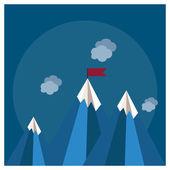 Fényképek A hegyre jelző koncepció megvalósítása