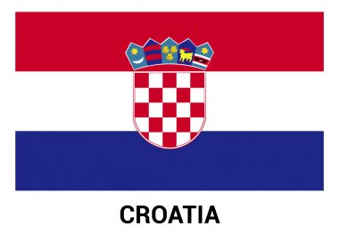 Croatia flag in official colors