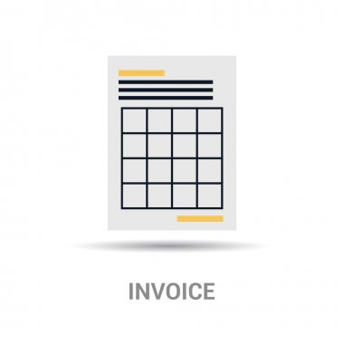 Dollar bill invoice icon