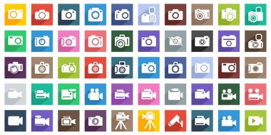 Camera Icon Set. Photography icon set