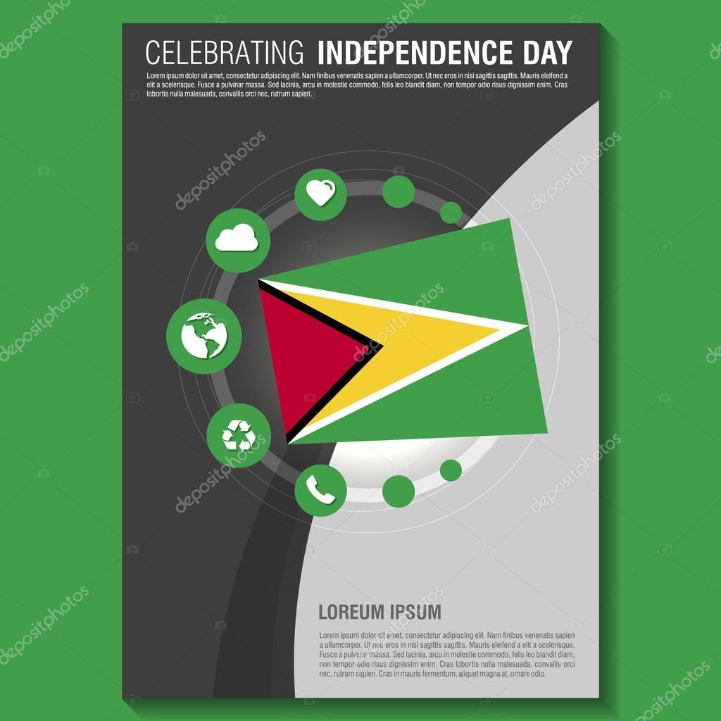 Guyana Independence Day Flyer — Stock Vector © ibrandify #93738304