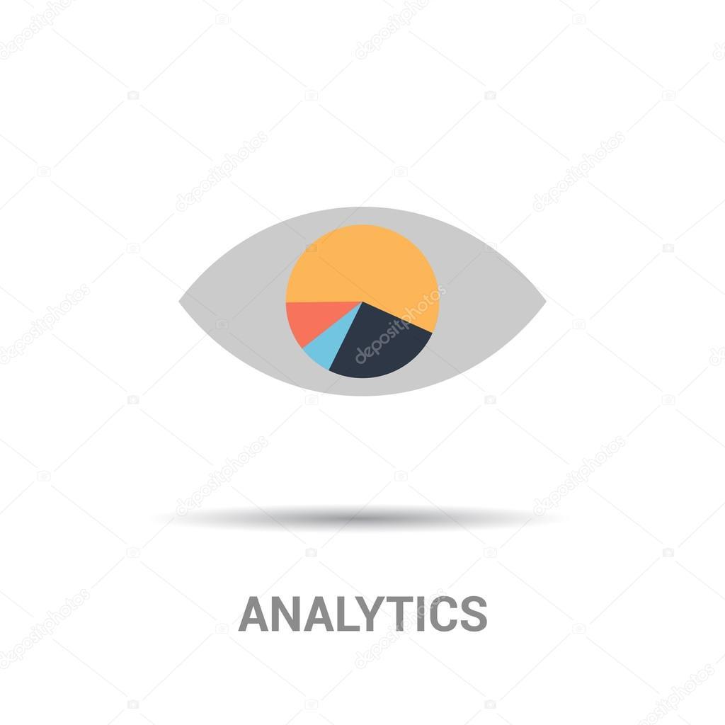 ojo humano con el icono del diagrama de negocios — Archivo Imágenes ...