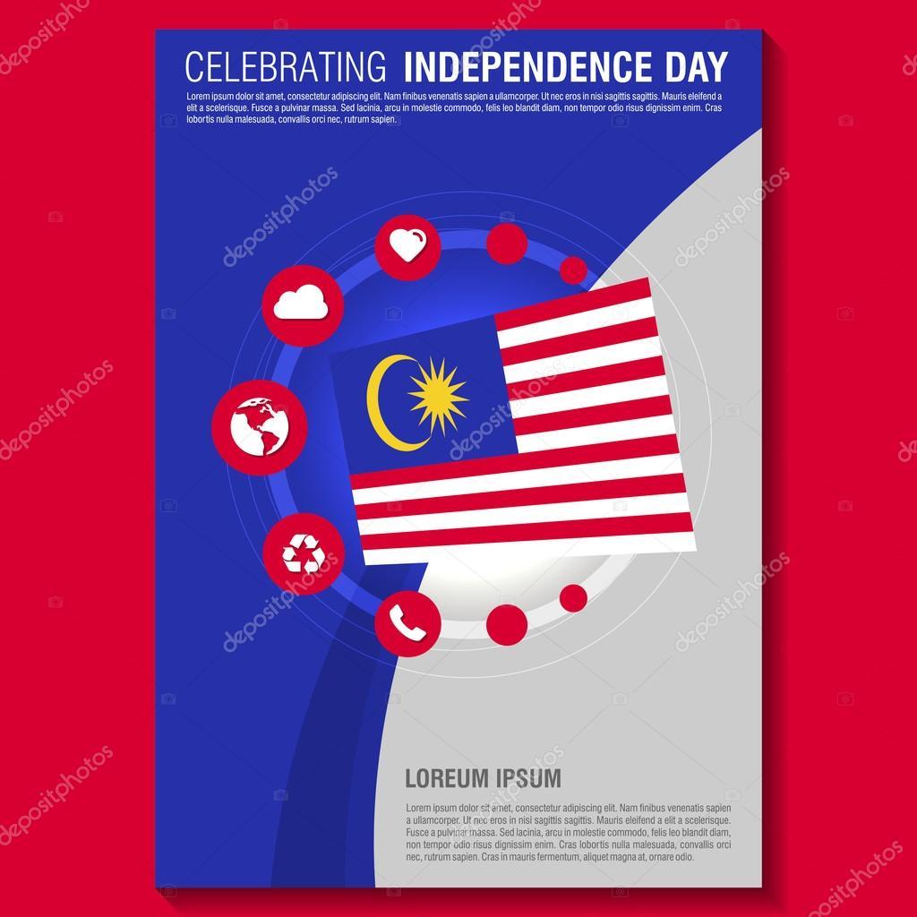 Malaysia Independence Day Brochure — Stock Vector © ibrandify #93738886