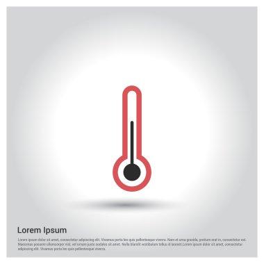 Measuring temperature icon, vector illustration clip art vector