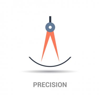 Precision colorful icon
