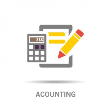 Accounting color flat icon