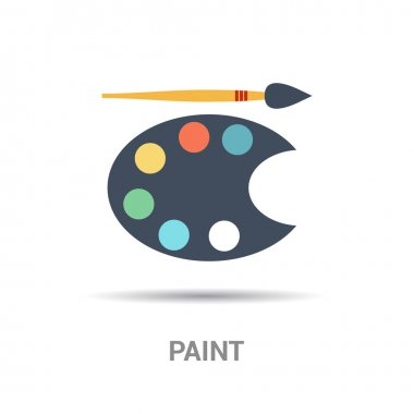 painting brush and palette icon