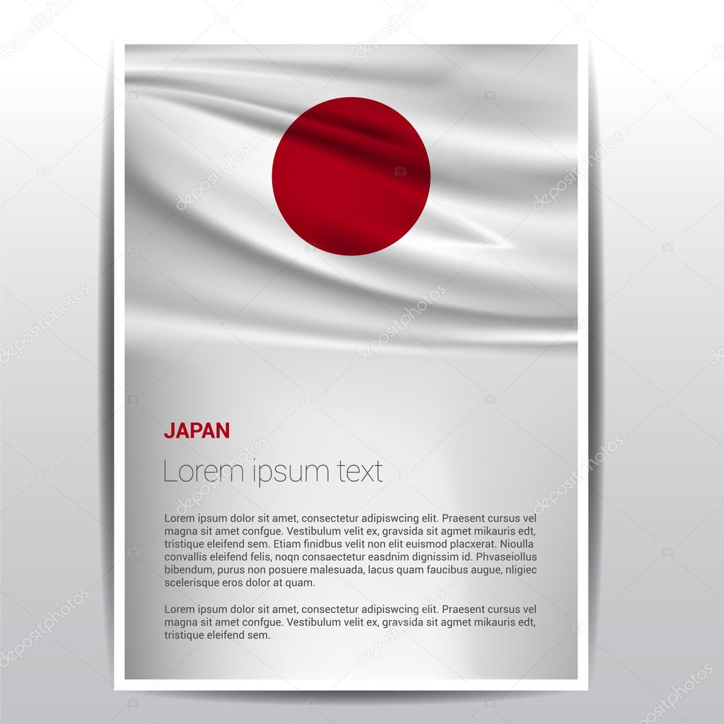 japan flag brochure template — stock vector © ibrandify #93741270, Powerpoint templates