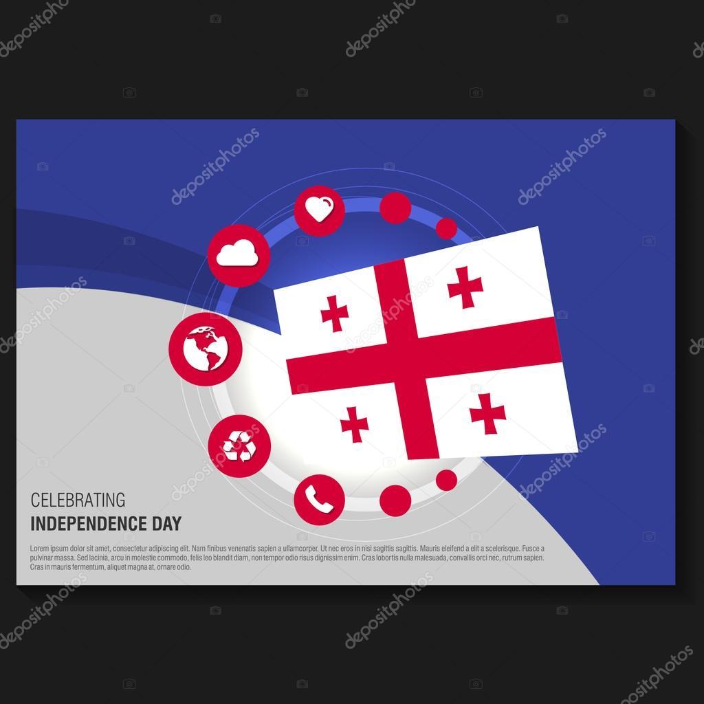 Independence Day Flyer | Georgia Independence Day Flyer Stockvektor C Ibrandify 93741648