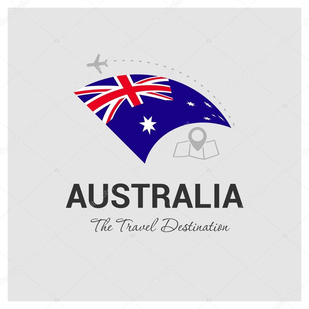 australia travel logo u2014 stock vector ibrandify 93741934