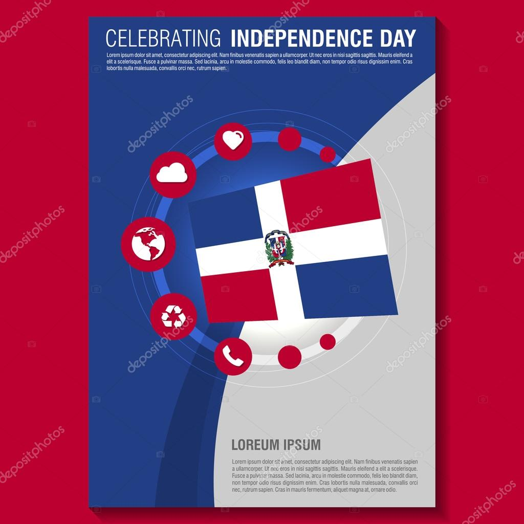 Dominican Republic Independence Day Flyer Template. Creative Brochure Title  Page. National Day Leaflet Design Element. Vector Illustration U2014 Vector By  ...