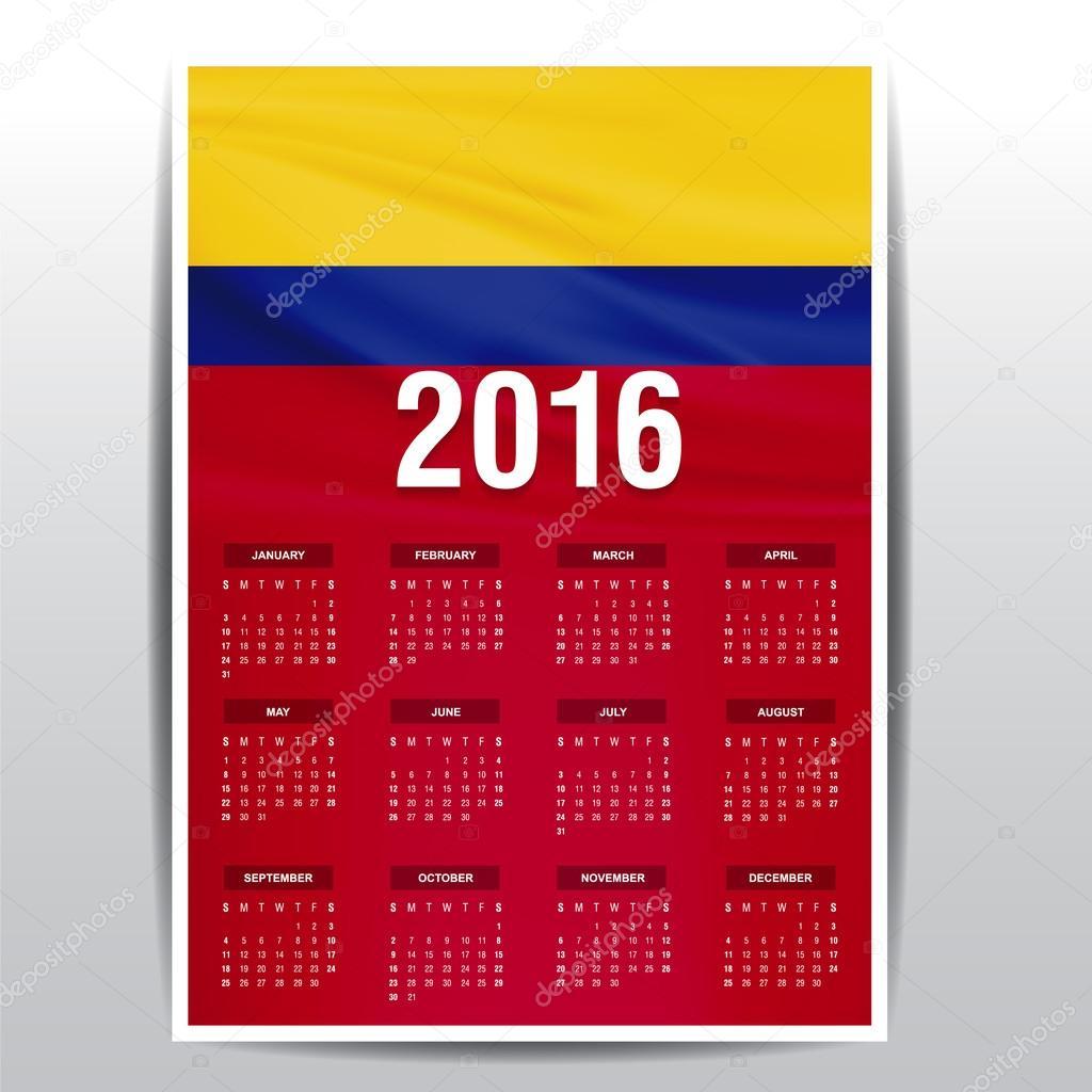 CALENDARIO COLOMBIA 2016 DOWNLOAD