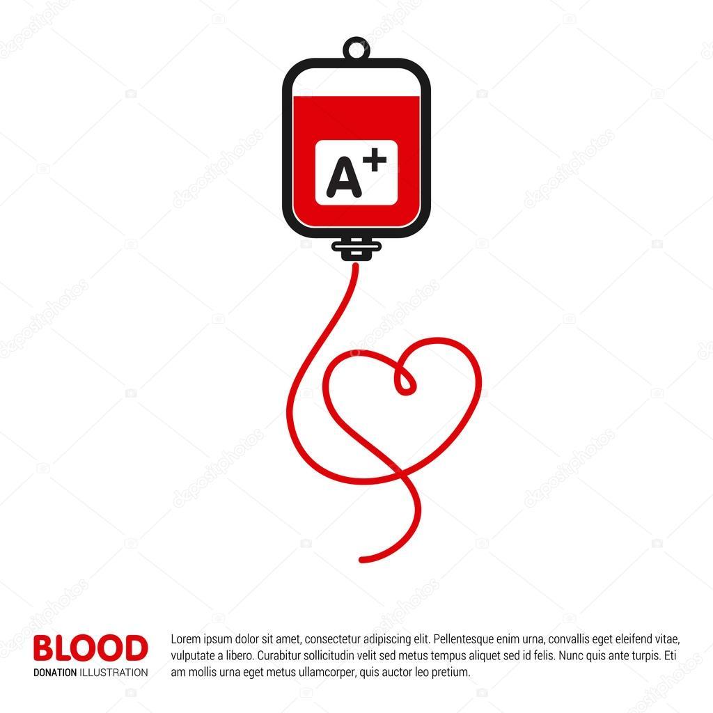 A Positive Blood Transformation — Stock Vector © ibrandify #93745190