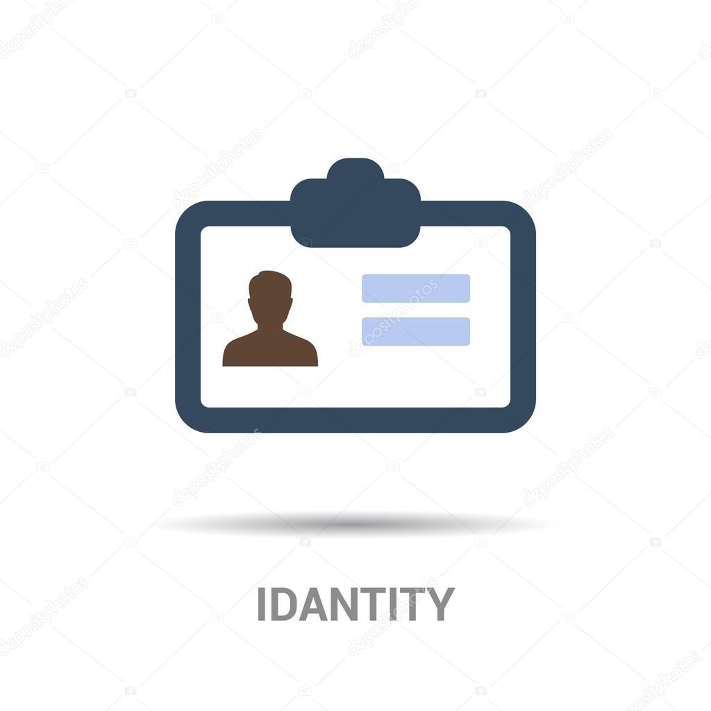 Plantilla de icono de identificación de tarjeta — Vector de stock ...