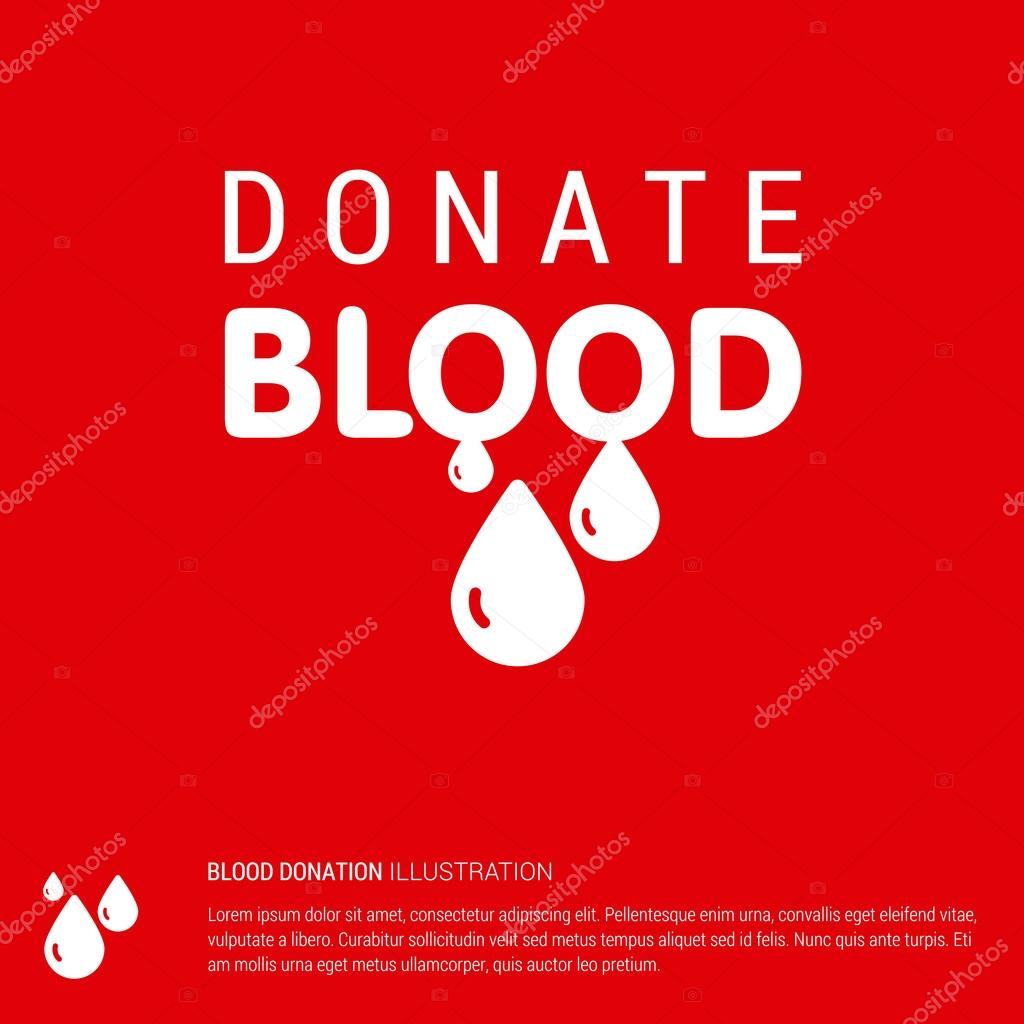 Poster design on blood donation - Donate Blood Creative Typography Design Template Health Care Poster Design Vector Illustration Vector By Ibrandify