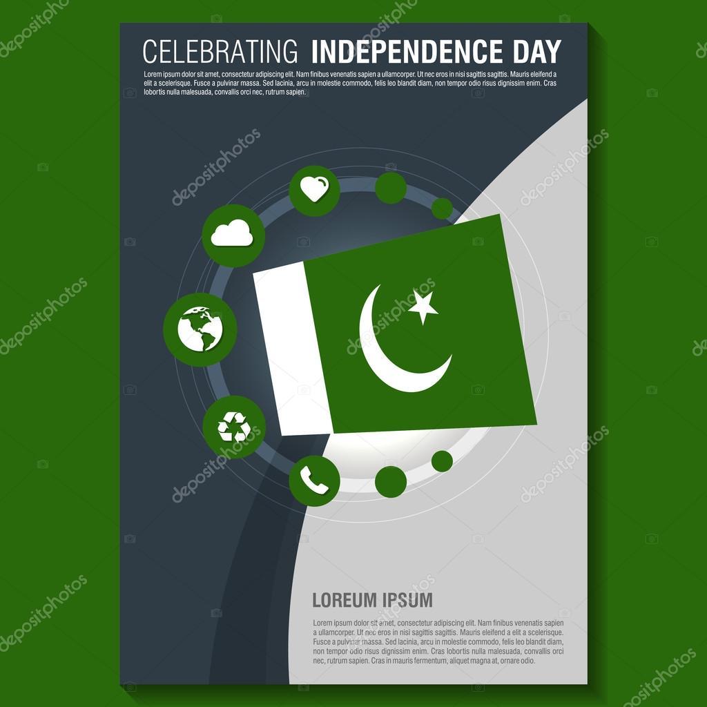 Pakistan Independence Day Brochure — Stock Vector © ibrandify #93749068