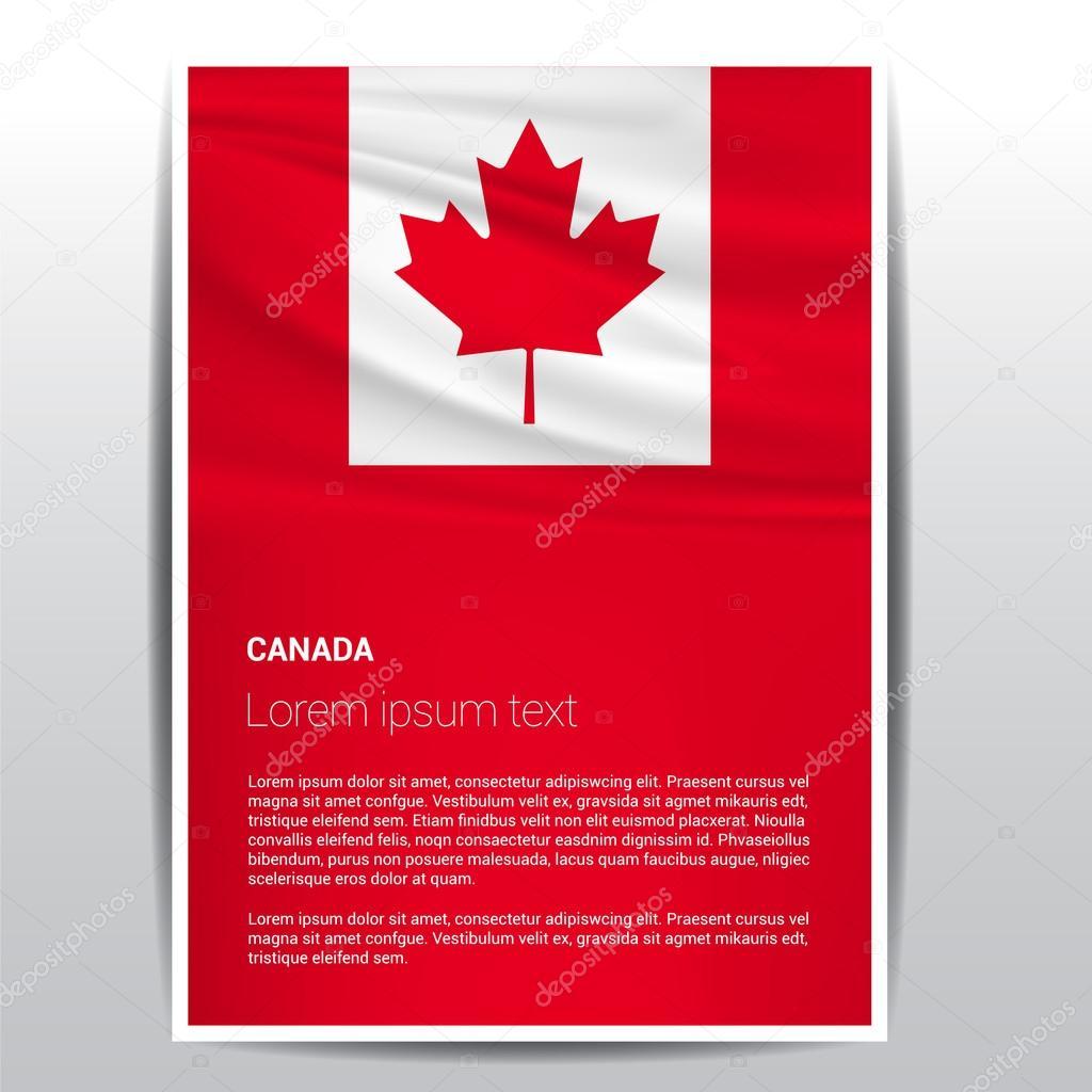 Bandera de Canadá plantilla folleto — Archivo Imágenes Vectoriales ...