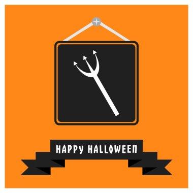 Halloween trident Icon.