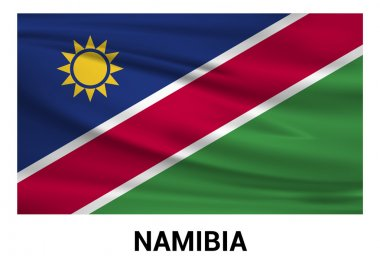 Namibia Flag in official colors