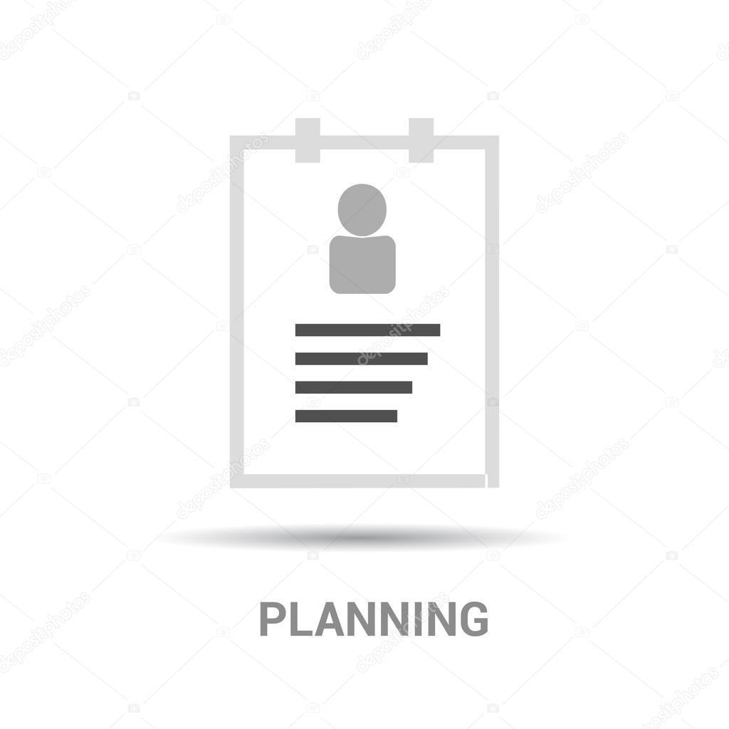 Icono de reanudar con texto planificación — Archivo Imágenes ...