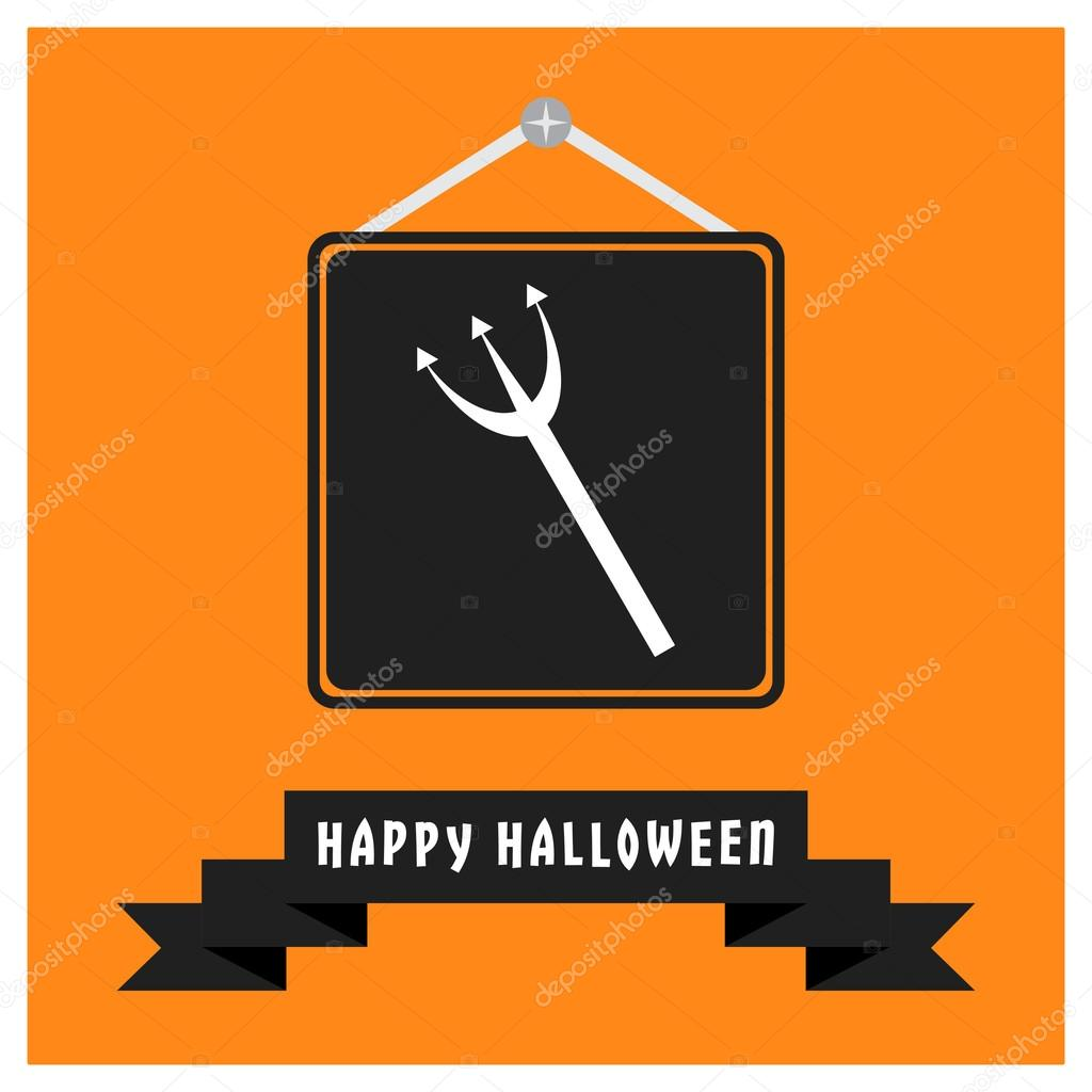 Halloween trident Icon.