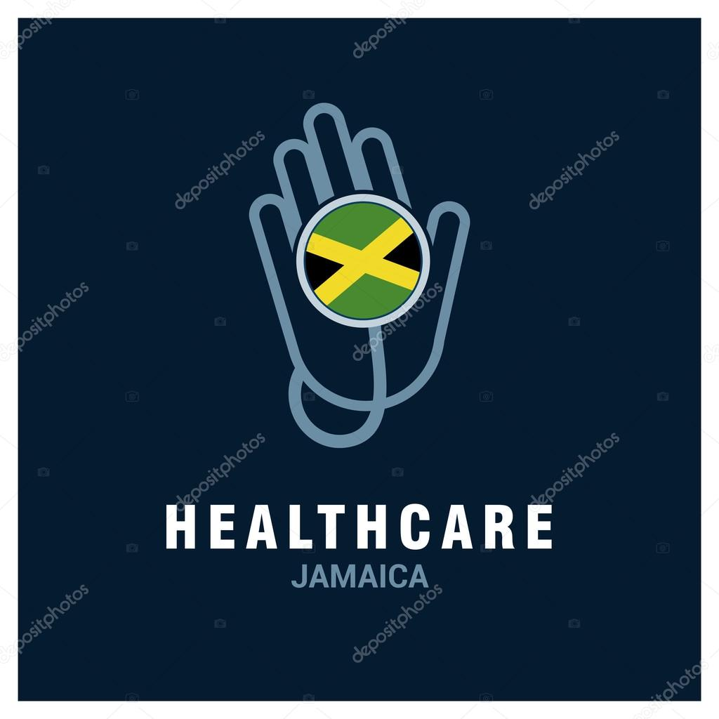 Jamaica healthcare logo — Stock Vector © ibrandify #93833484