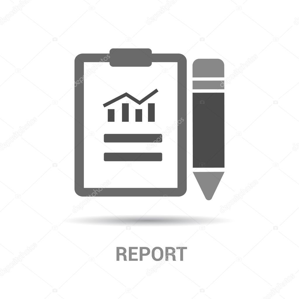 business report icon — Stock Vector © ibrandify #93833524