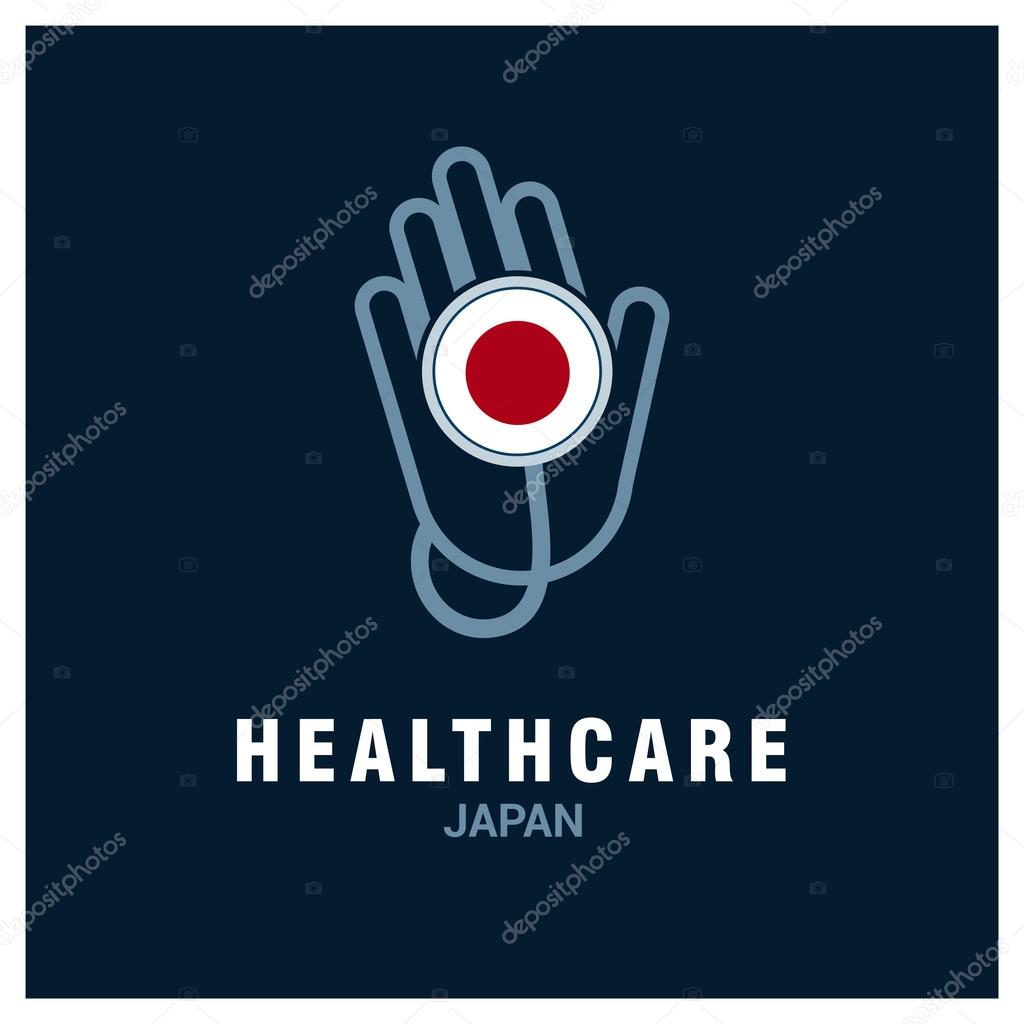 Japan Healthcare Logo Stock Vector C Ibrandify 93836044