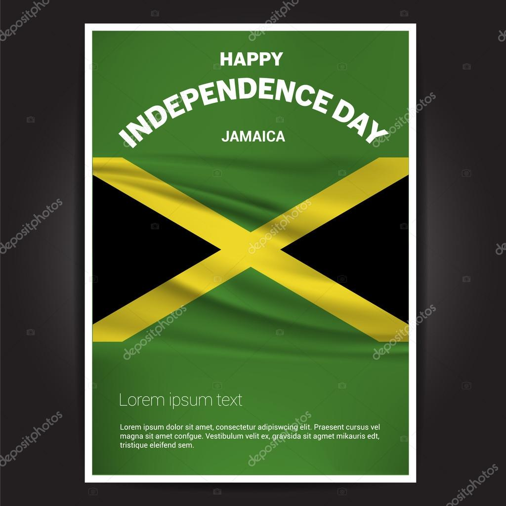 Jamaica Independence Day Poster Stock Vector Ibrandify - Jamaican independence day