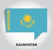 Tří dimenzionální 3d Kazachstán vlajka
