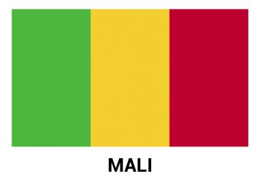 Mali Flag in official colors