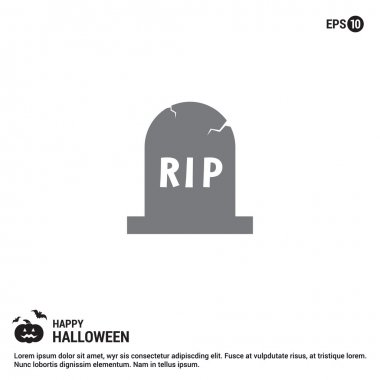 Halloween RIP Grave Stone icon.